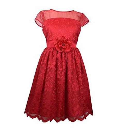 BONNIE JEAN Mädchen Kleid, Party Outfit, X32125-DS, rot (14 (Gr. 34)) Bonnie Jean Kleid 14
