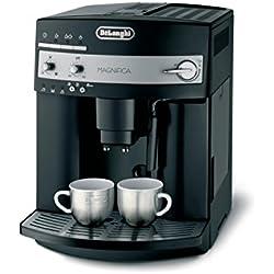 De'Longhi Magnifica ESAM 3000.B Kaffeevollautomat | Großer 1,8 L Wassertank | 15bar Pumpendruck | Milchschaum-Düse | 13-stufiges Kegelmahlwerk | Herausnehmbare Brühgruppe | 2 Tassen Funktion | Schwarz Kaffeevollautomat