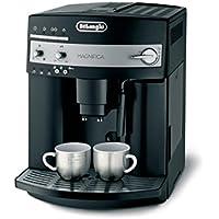De'Longhi Magnifica ESAM 3000.B Kaffeevollautomat | Großer 1,8 L Wassertank | 15bar Pumpendruck | Milchschaum-Düse | 13-stufiges Kegelmahlwerk |  Herausnehmbare Brühgruppe | 2 Tassen Funktion | Schwarz