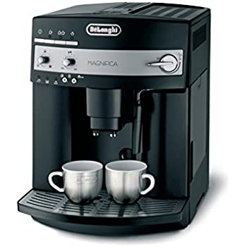 De'Longhi Magnifica ESAM 3000.B Kaffeevollautomat |Großer 1,8 L Wassertank | 15bar Pumpendruck | Milchschaum-Düse | 13-Stufiges Kegelmahlwerk |  Herausnehmbare Brühgruppe | 2 Tassen Funktion | Schwarz