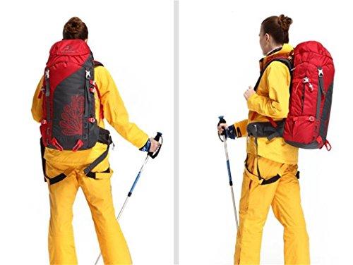 borse alpinismo esterno zaino da viaggio borsa a tracolla uomo donna ( Colore : Rosso , dimensioni : 45L ) Rosso