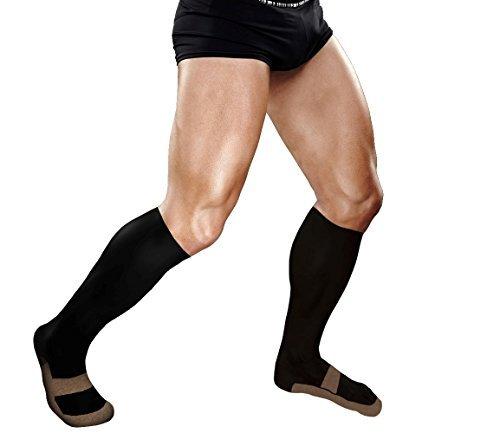 Kupfer Kompression Knie Hohe Recovery Unterstützung Socken, # 1garantiert höchste Kupfer Inhalte. Beste Kupfer infundiert Passform Socke für Running, geschwollene Füße, Waden/tibiakantensyndrom (1Paar) (Diabetiker Füße Geschwollene)