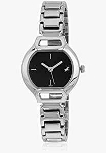 Fastrack Analog Black/Silver Dial Women's Watch - 6104SM01