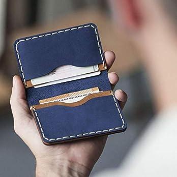Braunes und Blaues Leder Ausweishülle Geldbörse Portemonnaie, langlebige Aufbewahrung von ID, Kreditkarten und Banknoten…