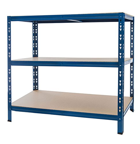 Regal 140x140x60 blau – Steckregal Lagerregal Schwerlastregal Fachlagerregal Kellerregal Ordnerregal