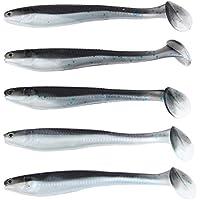Broadroot, 5 Señuelos de Pesca con Forma de T en 3D para cebos Artificiales o cebos de Pesca, 5 Unidades, 5 g/9,5 cm, Plata