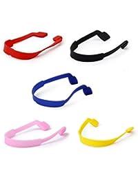 4b5f952065 TOOGOO(R) 5pcs Cordas Cadenas de Gafas de sol Soporte de Gafas en Silicona
