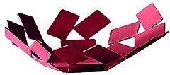 Idea Regalo - Alessi MT01 R AN La Stanza dello Scirocco Cestino in Acciaio Colorato con Resina Epossidica, Rosso, Colore Esclusivo Amazon, 24.5x23.2x6.2 cm
