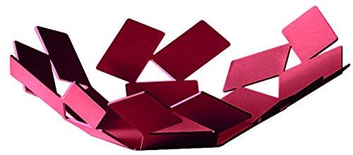 Alessi mT01 R An la pièce du scirocco Panier en acier coloré avec résine époxy, rouge