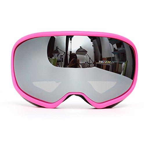 Alamor Rosa Skibrillen Doppel-Objektiv Anti Fog Uv Snowboard Motorschlitten Motorrad Brille