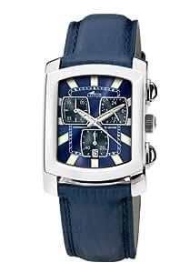 Lotus - Lotus 15276-3 - Montre Homme - Quartz - Chronographe - Bracelet Cuir Bleu