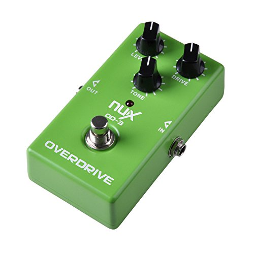 JEERUI NUX OD 3OVERDRIVE PARA GUITARRA ELECTRICA EFECTO PEDAL TURE BYPASS VERDE