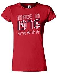 Made In 1976 5 Stars Birthday Retro-Damen-T-Shirt