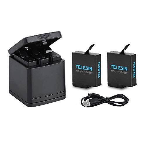 TELESIN Cargador Triple Batería Kit Caja
