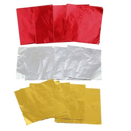 SM SunniMix 300x Aluminiumfolie Backpapier Verpackungpapier Packpapier Schokolade Papier Kekse Wrapper für Haus und Baken Laden