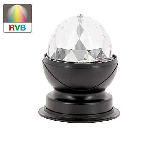 Xanlite | LADRVB, Lampe à poser effet disco, LED multicolores,tête rotative
