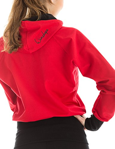 Winshape Damen Hoodiejacke Freizeit Sport Rot