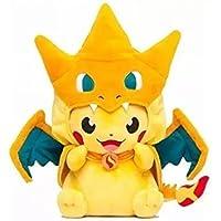 Peluche pikachu dracaufeu / charizard cosplay édition environ 24 cm