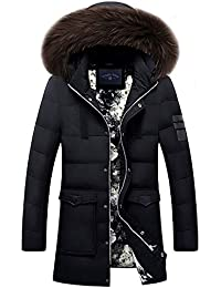 6e29b3fe9d7 JINGYOU Winter Down Jacket Men Warm Coat Fashion Casual Down Jackets  Medium-Long Thickening Coat