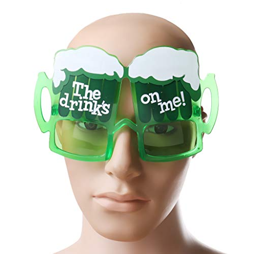 Party DIY Decorations - Hawaiian Novelty Sunglasses Beer Drinks Cup Glasses Do Fancy Dress Shades Green Costume Party Favors - Accessories Party Dresses