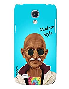 Omnam Mahatma Gandhi Printed in modern look with sunglass for Samsung Glaxy S4