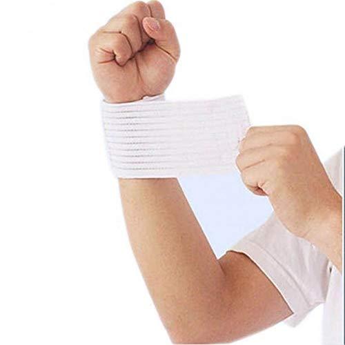 Betsy Galbraith Handgelenkstütze Outdoor-Sport-elastische Bandage Hand Sportarmband Gym Unterstützung Handgelenk-Klammer-Wrap Fitness Tennis Schweißband (Color : White) -
