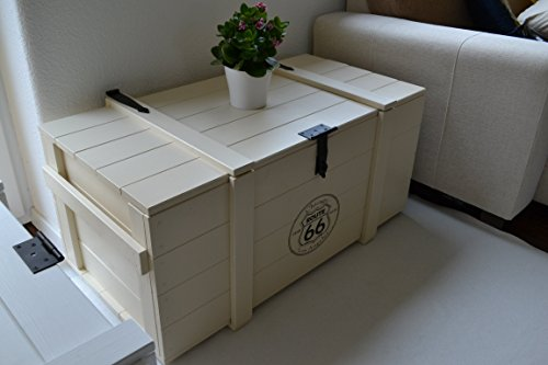 'Caja de madera Mercancías Caja Baúl mesa Shabby Vintage Rústico