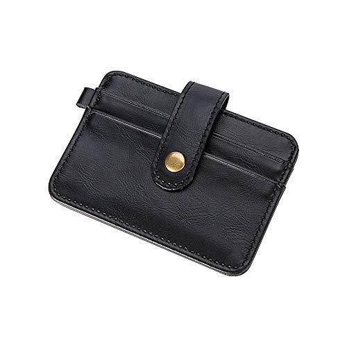 DHKPRO Männlich Slim Card Wallets Männer Short Card Holder Snap Wallets -