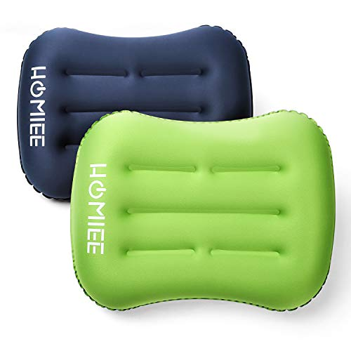 HOMIEE 2pcs Almohadas Camping Inflable