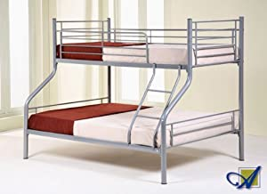 PARIS TRIO TRIPLE SLEEPER BUNK BED + 4ft6 & 3ft Mattresses