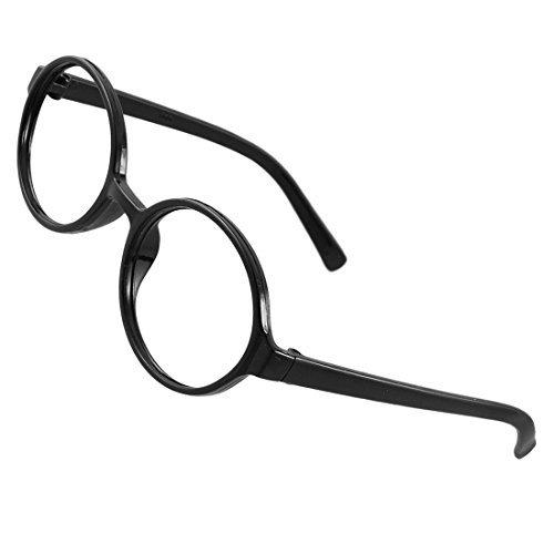 Ladies aus schwarzem Kunststoff Voll Felgen Runde Brillen Rahmen