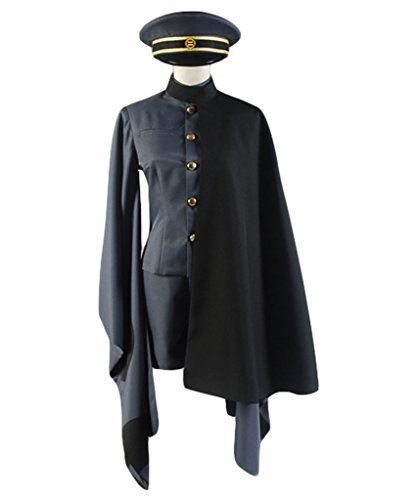 Vocaloid 2 Senbonzakura's Brother Kagamine Rin/Len Military Uniform Cosplay Kostüm Schwarz XS