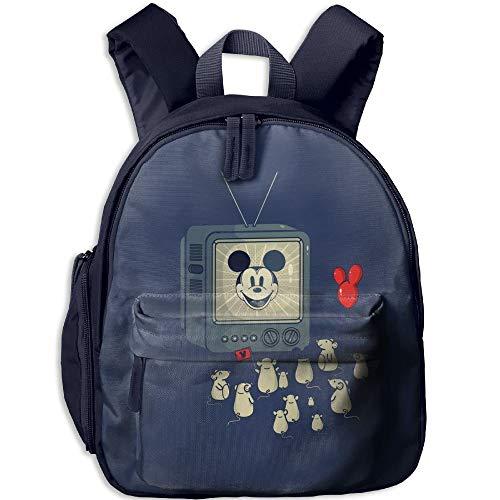 Funny-Mouse Fans Toddler Kids Pre School Bag Cute 3D Print Children School Backpack