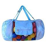 Lyanther Mesh Strandtasche Faltbare Rucksack Aufbewahrungsbeutel mit Reißverschluss Top für
