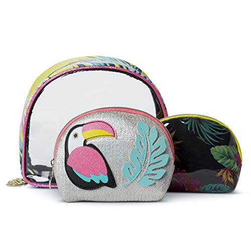 Tri-Coastal Design - Set di 3 Pochette Porta Trucchi Colorato, Perfetto per Contenere il Make-Up o da Usare come Astucci o Borsine da Viaggio Portatutto