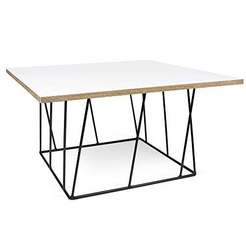 TemaHome Table Basse carrée Helix 75 Structure laquée Noire