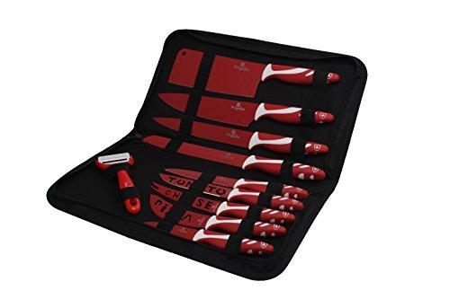 BerlingerHaus Set Coltello 10 pezzi The Knife Line Rosso