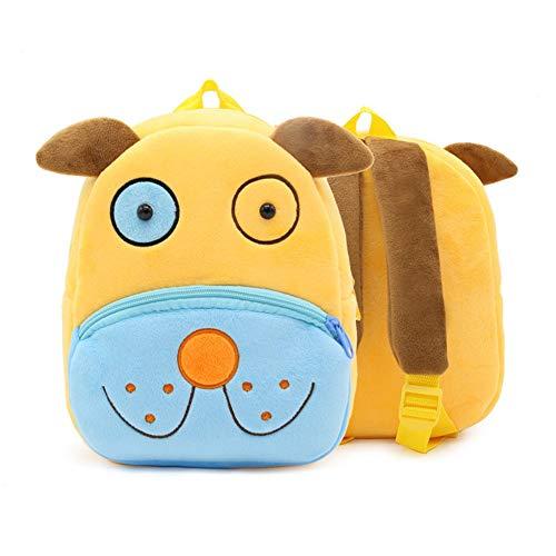 Frantic Premium Quality Soft Yellow Dog (2020) Velvet Plush Bag for Kids