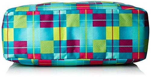 Chiemsee Borsa a mano Beachbag, colore ethno splash, taglia 45 x 15 x 35 cm, 24 Liter Karo Blue Caba