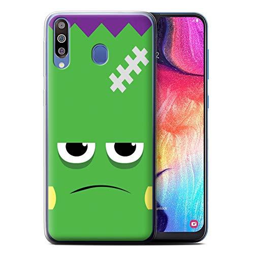 eSwish Gel TPU Hülle/Case für Samsung Galaxy M30 2019/M305 / Frankenstein Muster/Halloween Zeichen Kollektion (Halloween 2019 Frank)