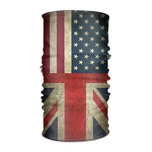 Wfispiy American Flag and British Flag Scarf Headbands Bandana Mask Neck Gaiter Sweatband