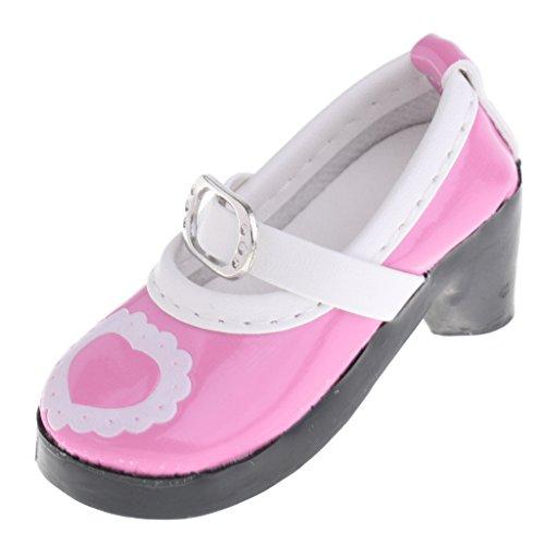MagiDeal 1 Paar Puppenschuhe, Slip-on High Heels Schuhe Für 1/3 Bjd Sd Puppen - # A - pink 18-zoll-puppe High Heel-schuhe