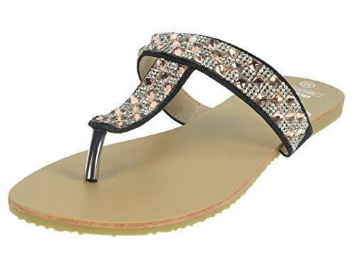 Beppi 213953 à 42, sandales mode femme Noir - Noir