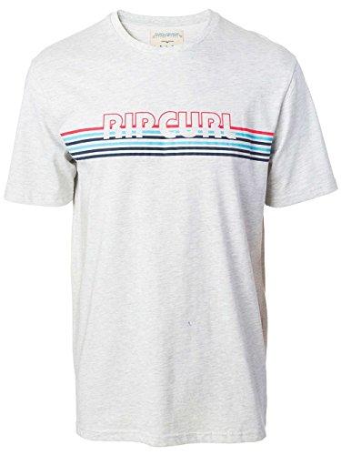 Rip Curl Herren the Call Tee T-Shirt white marle