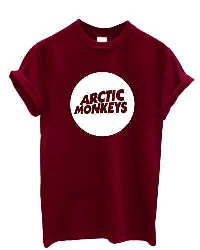 T-shirt Homme - Arctic Monkeys T-shirt con stampa rock band 100% coton LaMAGLIERIA,L,Bordeaux