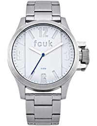 french connection watches amazon co uk french connection men s quartz watch white dial analogue display and silver stainless steel bracelet fc1162sm