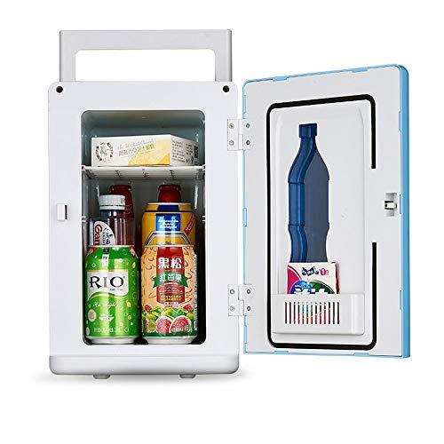 Mini Car Kühlbox Auto Kühlung und Erwärmung Mini Kühlschrank 10L Thermoelektrisches System Mit AC / DC-Adapter Für Reisen, Picknick, Camping, Heim und Büro ( Farbe : Blau , Größe : 32*22.5*34cm ) -