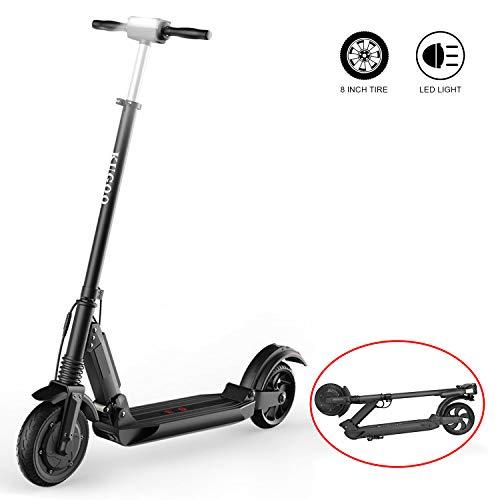 RCB Elektro Scooter Faltbares E Roller für Erwachsene und Jugendliche E-Scooter Leistungsstarker Motor Bis 30 km/h (schwarz) -