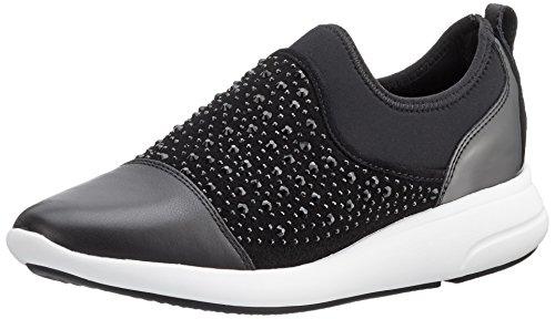 Geox d ophira b, scarpe da ginnastica basse donna, nero (blackc9999), 39 eu