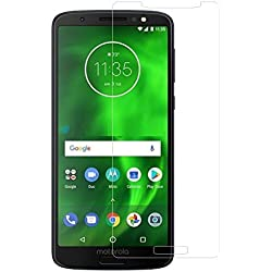 Moto G6 Play for Tempered Glass, Premium Quality Gorilla 9H Hardness Hardness HD Full Gumming Tempered Glass Screen Protector Guard for Motorola Moto G6 Play